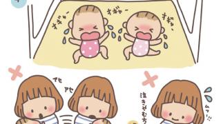 双子の同時泣き