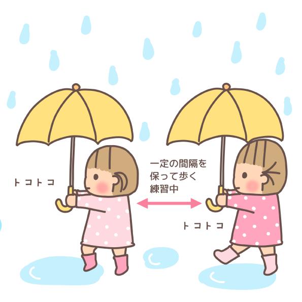 子供用雨傘 傘デビュー こどもの傘 梅雨 雨の日 登園