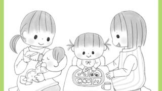 保育雑誌 挿絵 ひろば 食育 イラスト メイト 5月号 保育士 子供 赤ちゃん