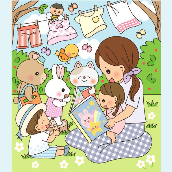 まちがいさがし 挿絵 パズル誌 イラスト 親子イラスト 子供イラスト 絵本 児童書